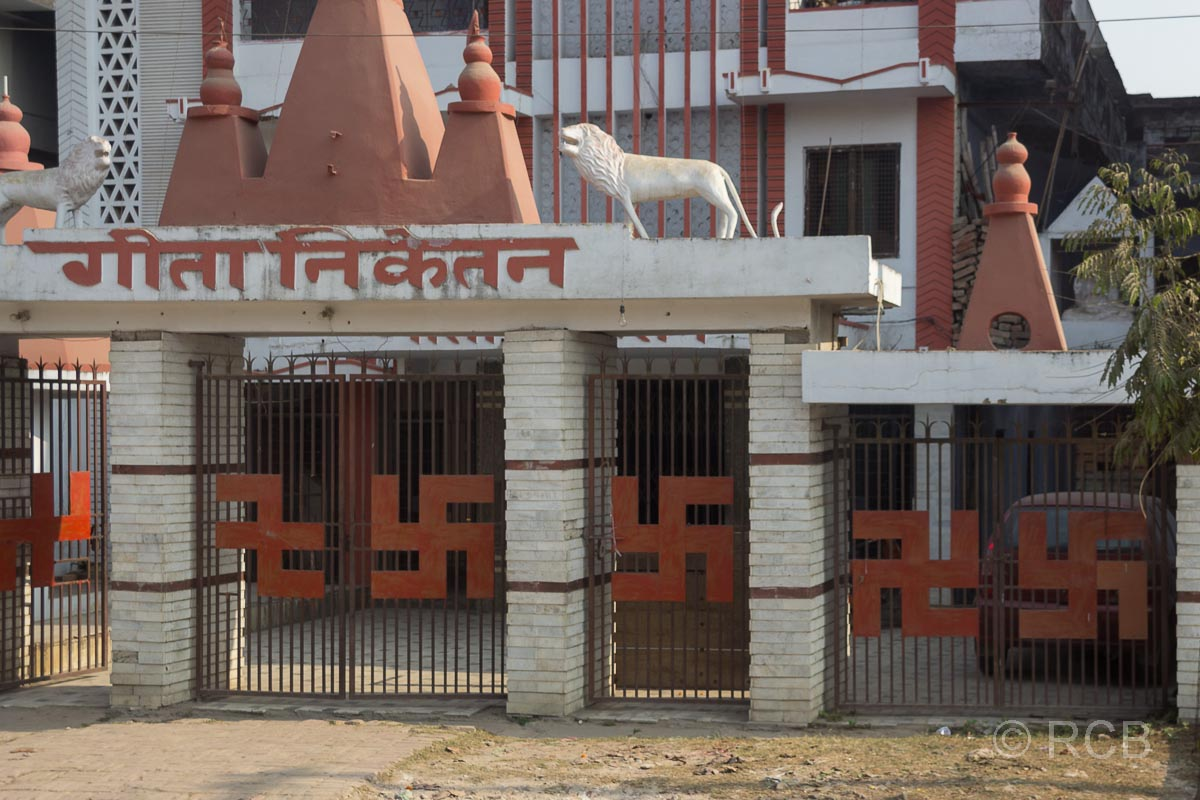 Allahabad, indische Glückssymbole, in Deutschland zu politischen Zwecken sinnentfremdet