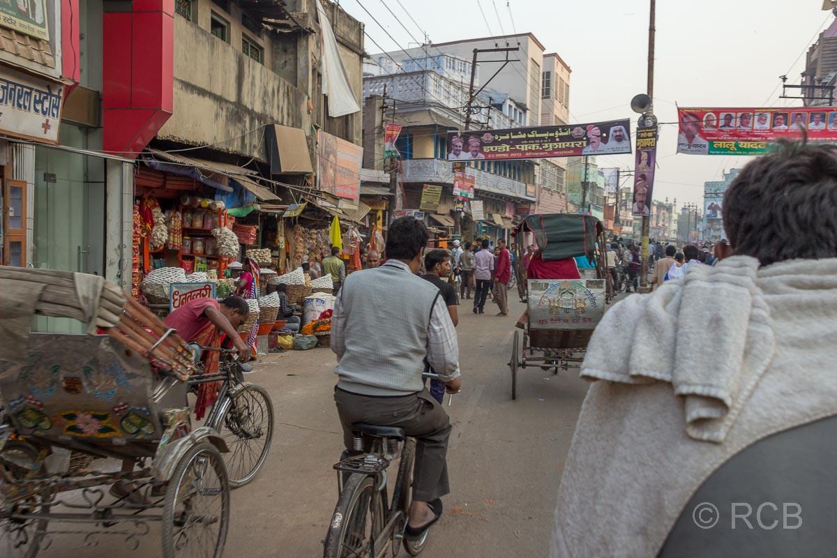 Varanasi, Fahrt mit der Fahrradrikscha