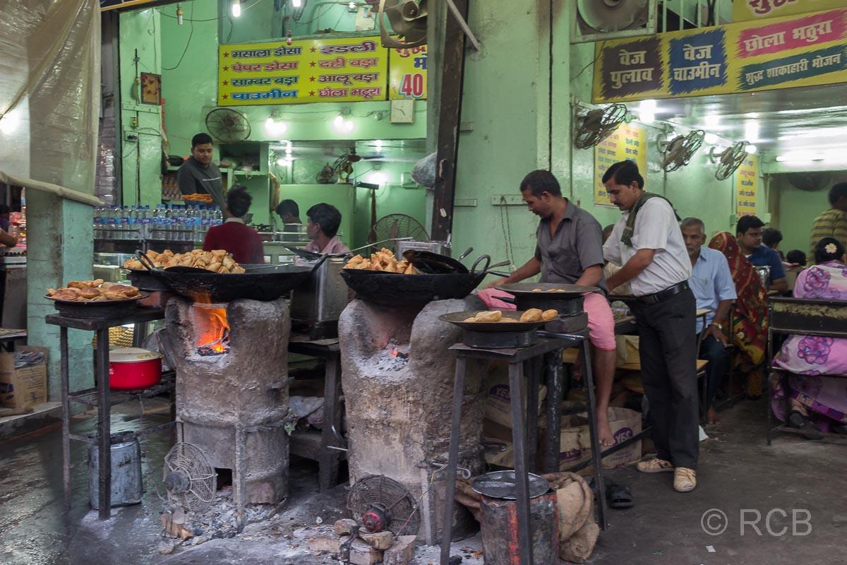 Varanasi, Garküche in der Altstadt
