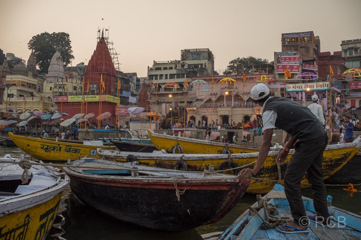 Varanasi, Boote am Dasaswamedh-Ghat