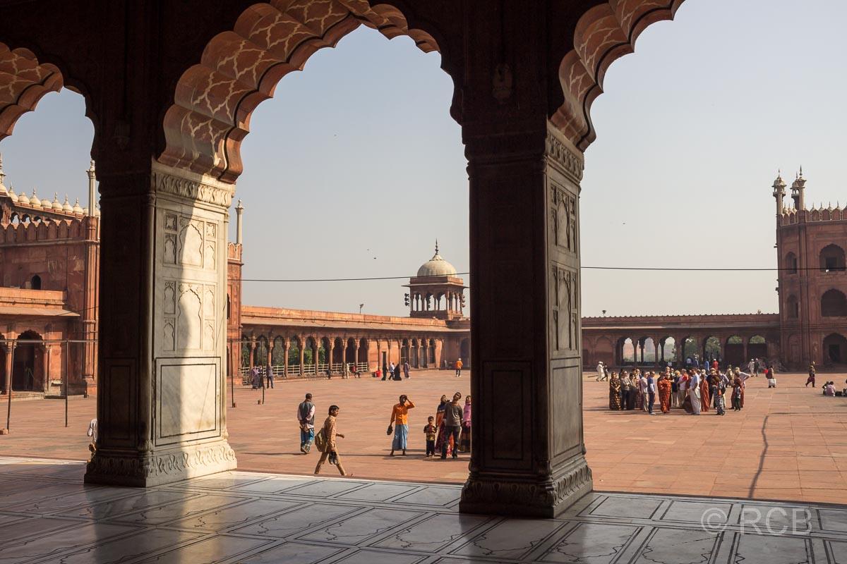 Innenhof der Freitagsmoschee, Delhi