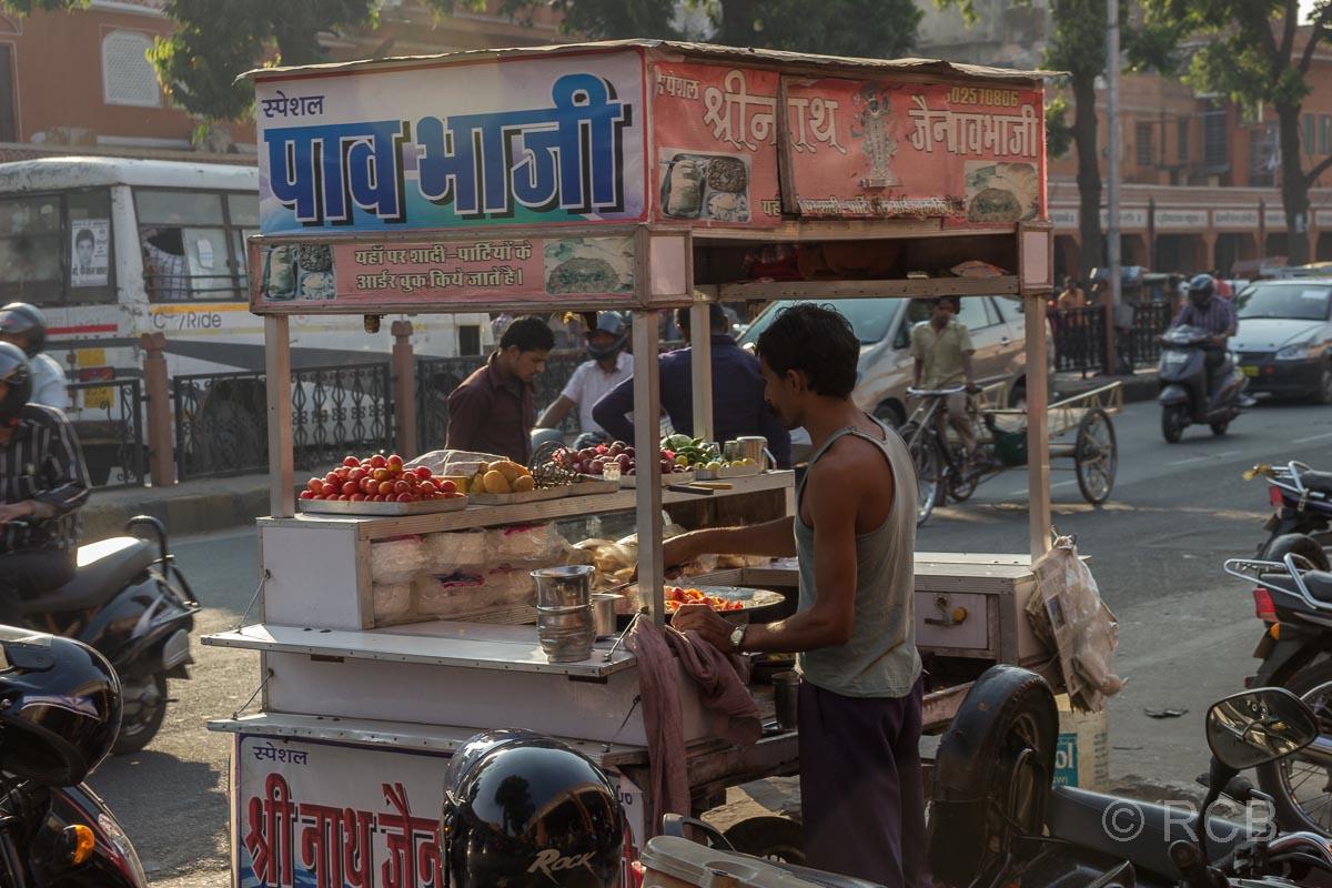 Straßenverkaufsstand, Jaipur, Altstadt