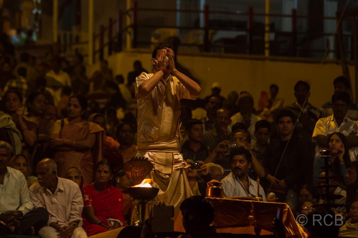 Varanasi, Dasaswamedh-Ghat, Ganga Aarti-Zeremonie