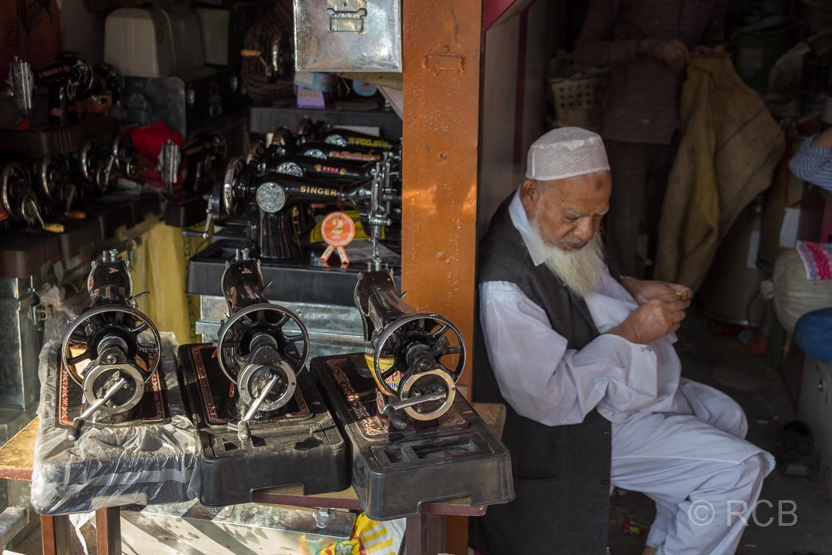 Nähmaschinengeschäft, Jaipur, Altstadt