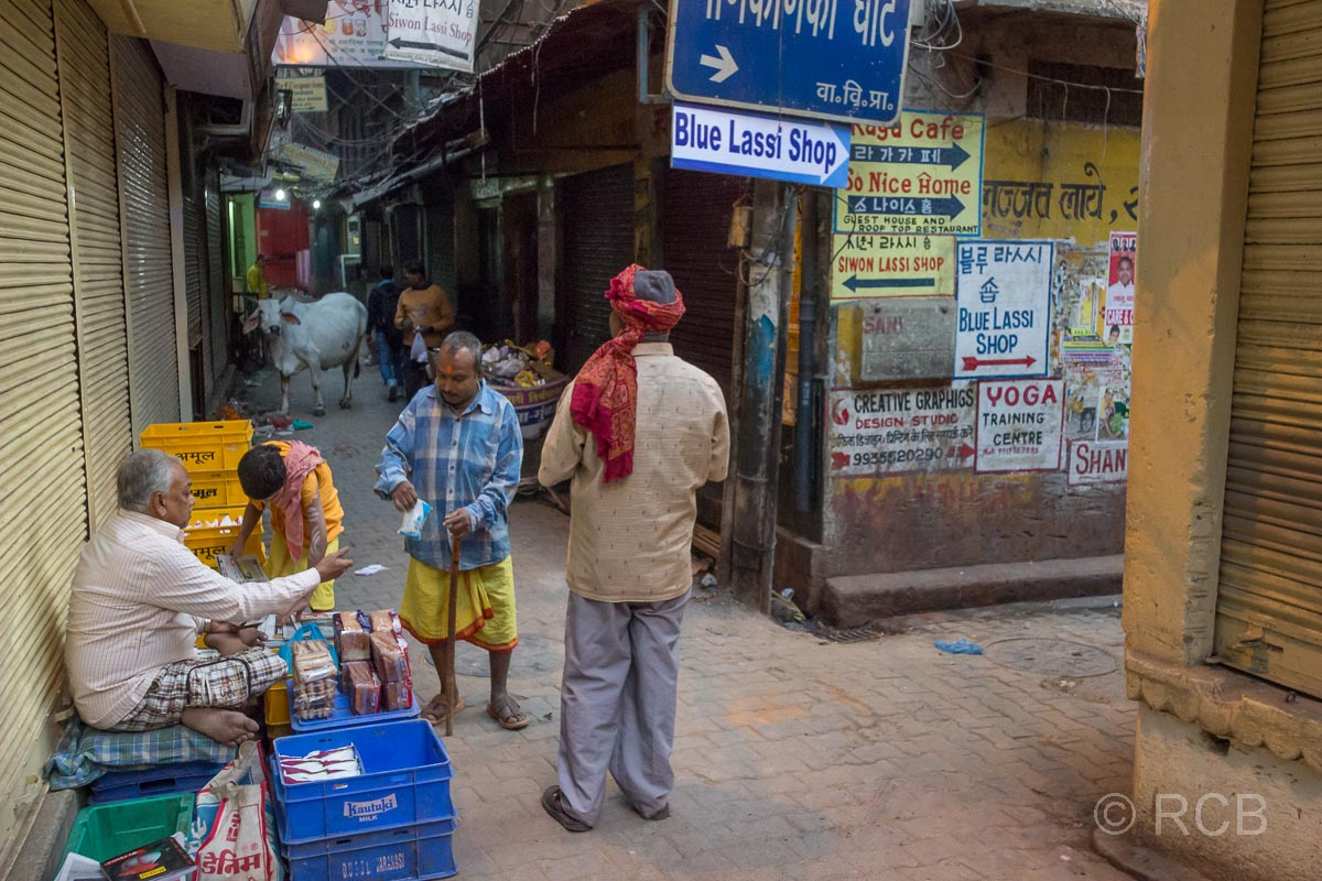 Varanasi, Straßenszene in der Altstadt