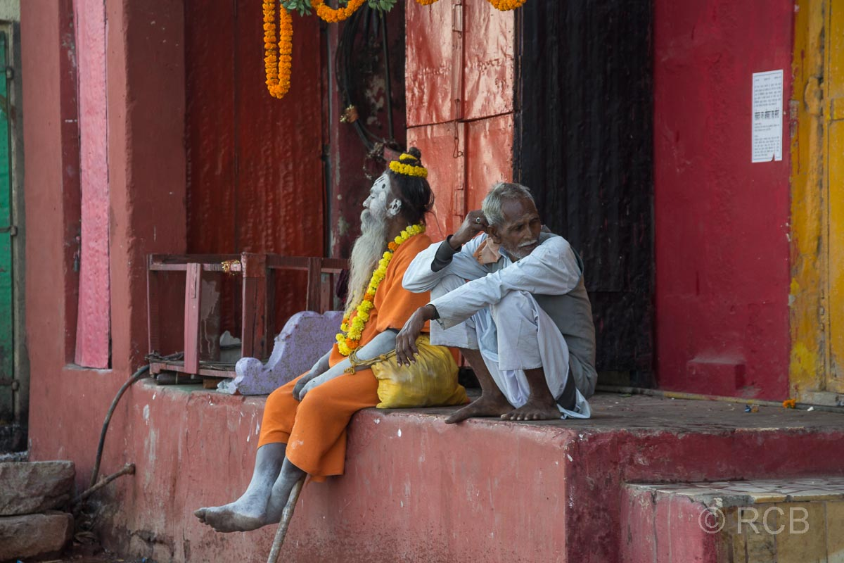 Varanasi, Sadhus an den Ghats