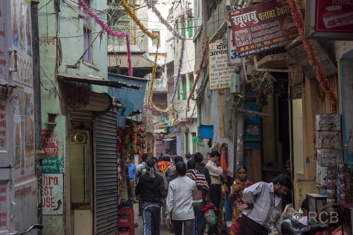 Varanasi, enge Gasse in der Altstadt