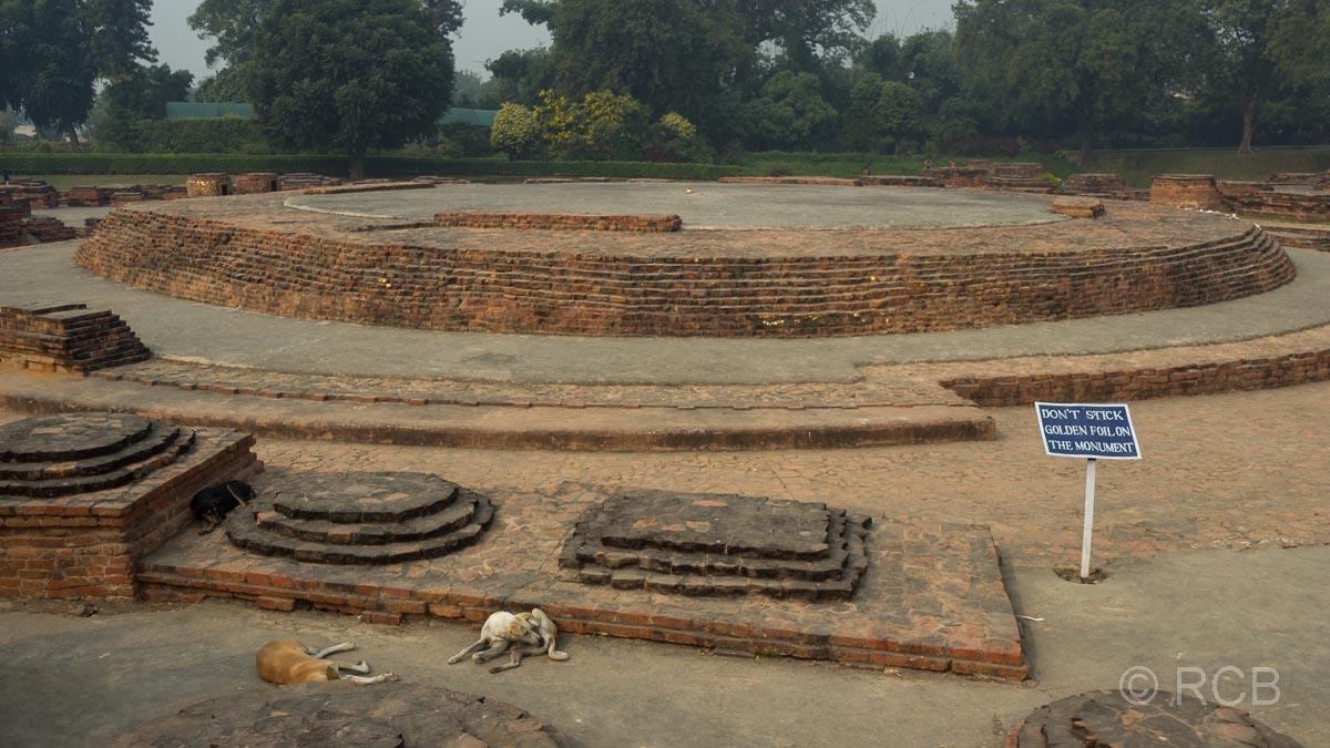 Sarnath, Tempelruinen