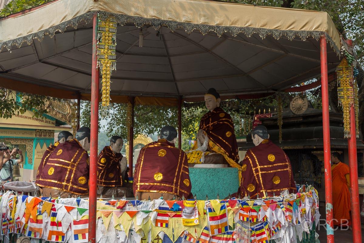 Sarnath, Nachbildung der ersten Predigt Buddhas