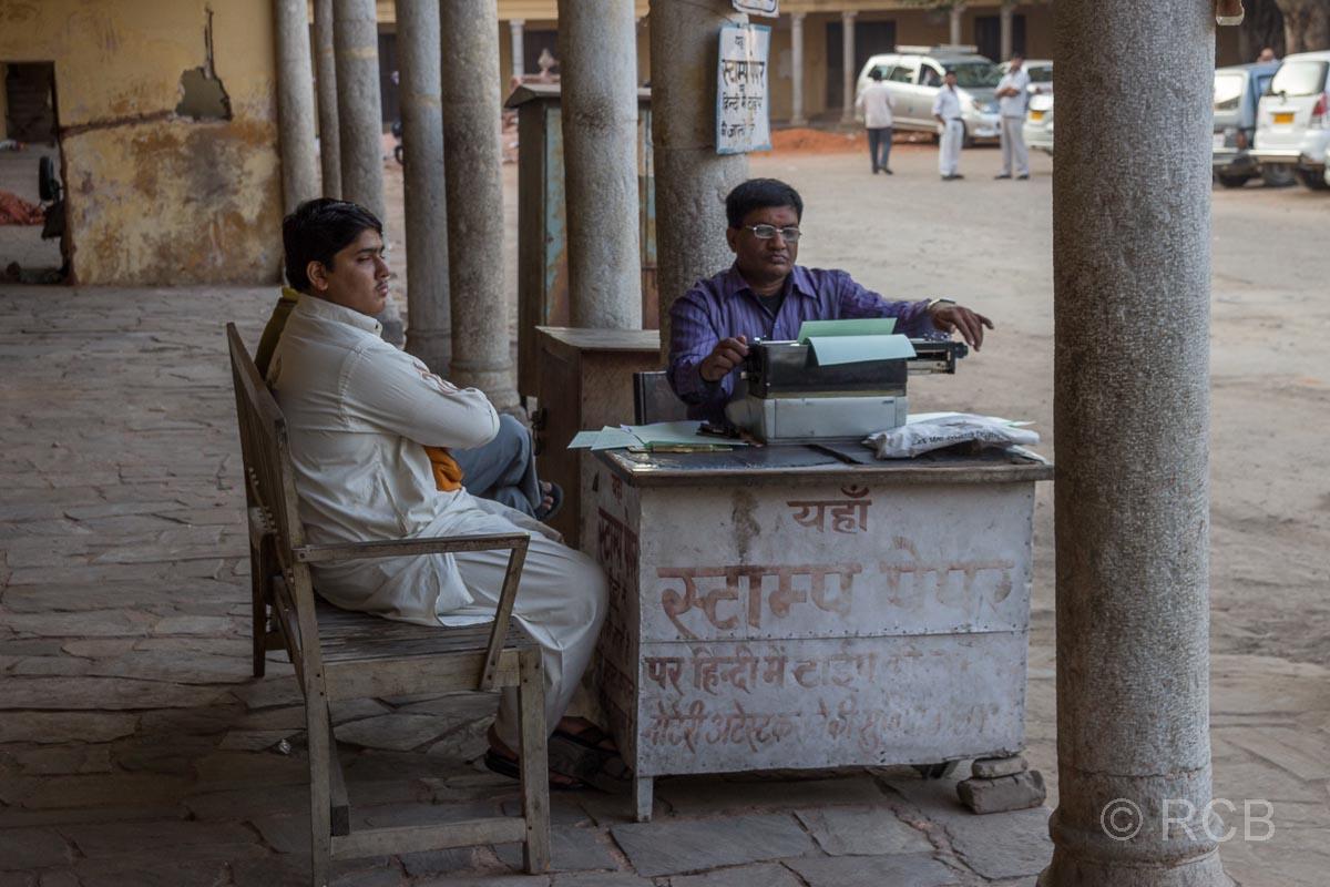 Schreiber, Jaipur, Altstadt