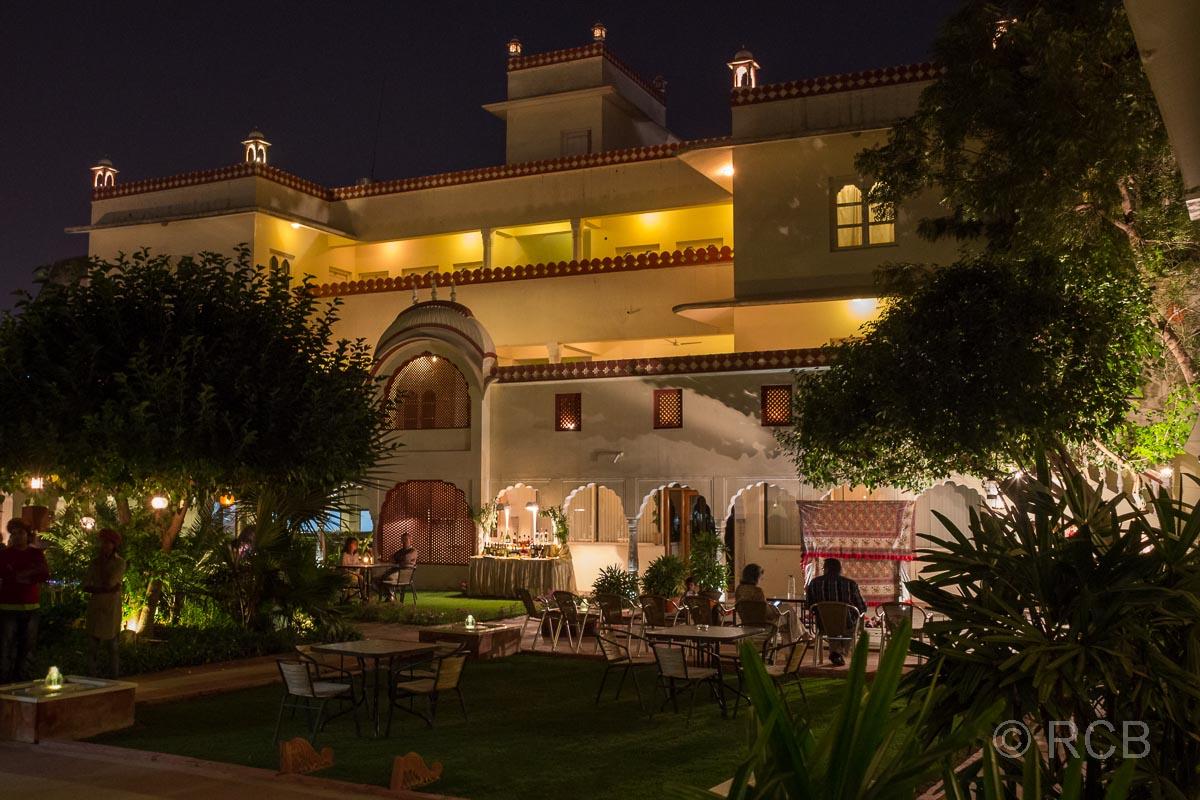 Hotel Mandewa Haveli, Jaipur bei Nacht