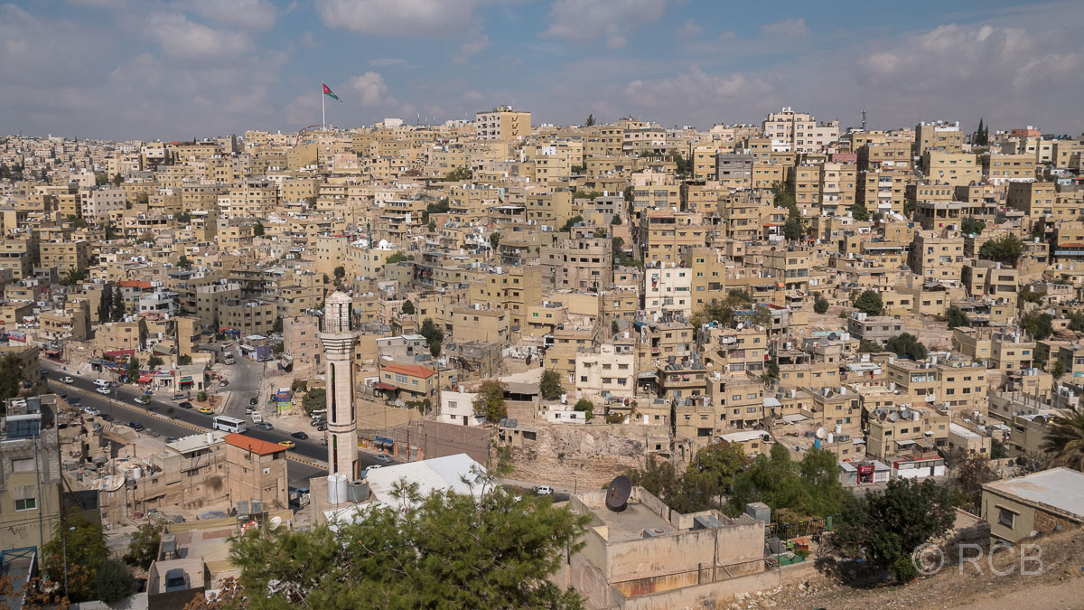 Altstadt von Amman von der Zitadelle aus gesehen