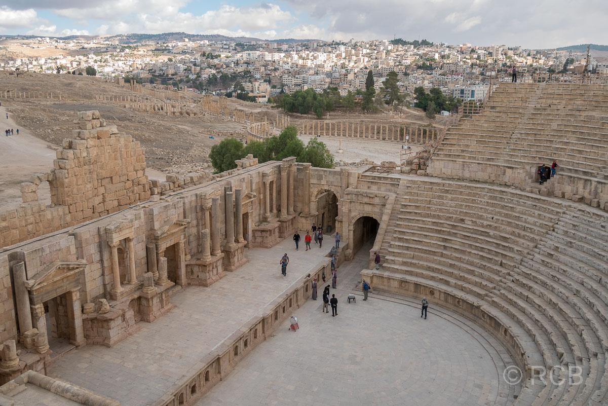 Jerash, Südtheater und Ovales Forum