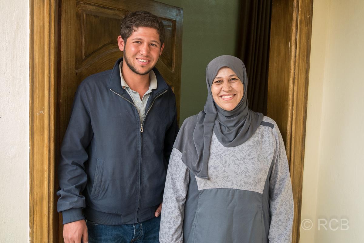 Umm Qais, Wirtin mit Ehemann