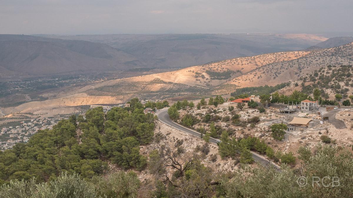 Umm Qais, Blick zu den Golanhöhen nach Syrien