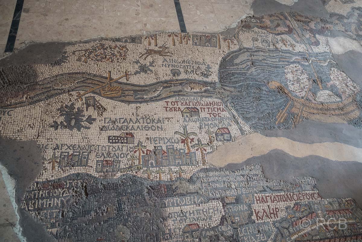Madaba, St. Georgskirche, Mosaik mit Palästinakarte