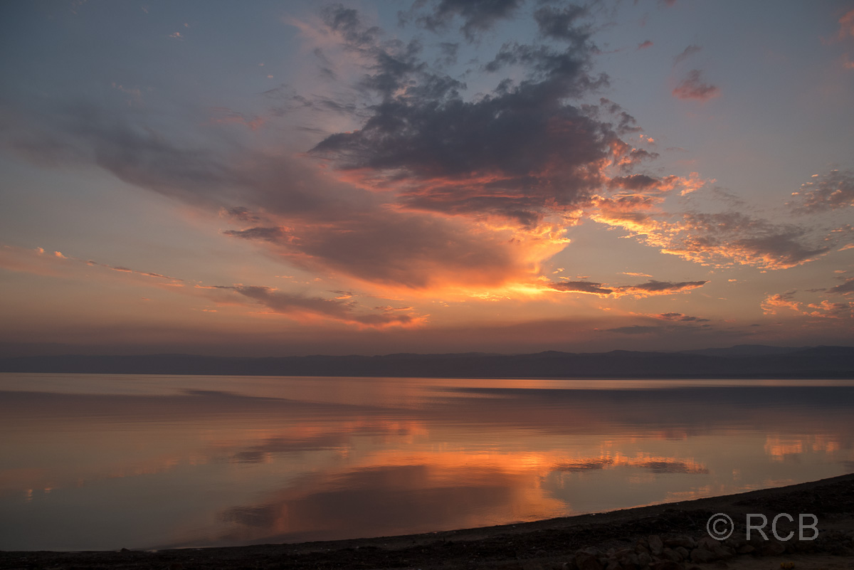 Sonnenuntergang über dem Toten Meer