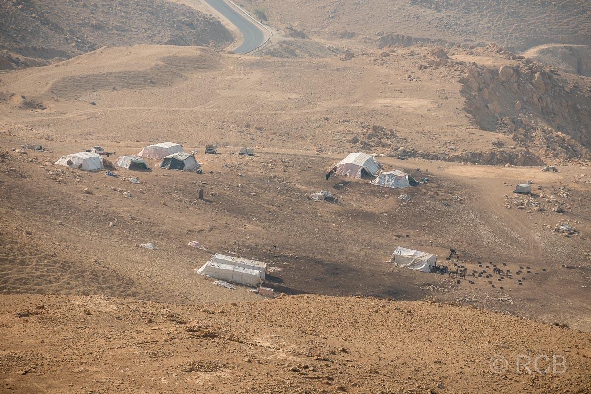 Beduinenzelte am Toten Meer