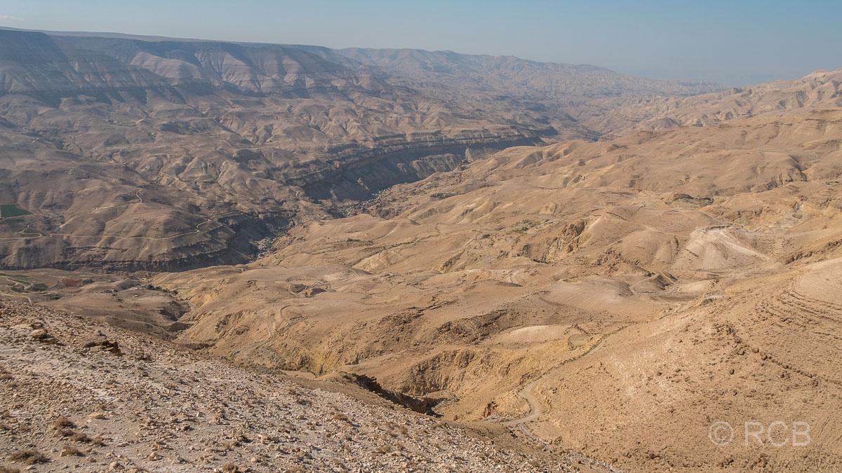 Blick auf das Wadi Mujib