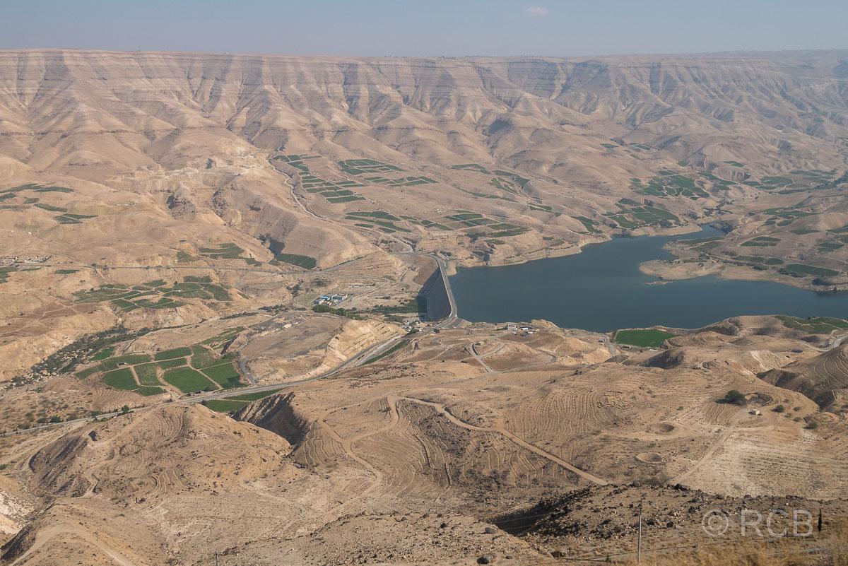 Staudamm am Wadi Mujib