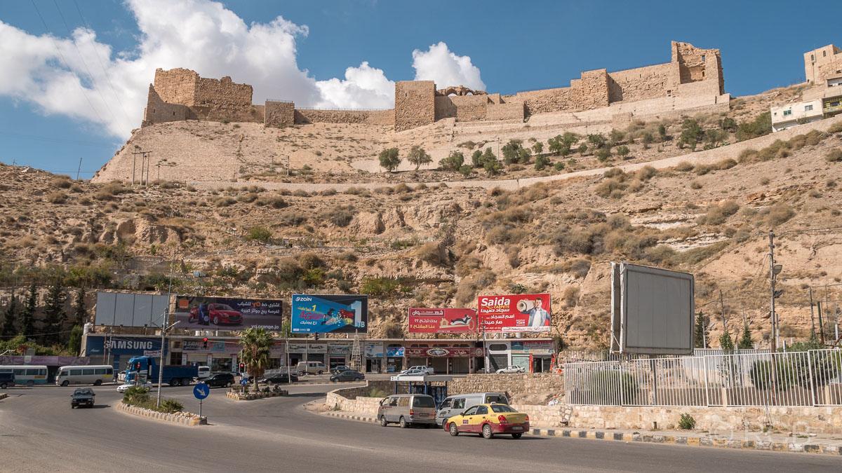 Kerak, Blick auf die Festung