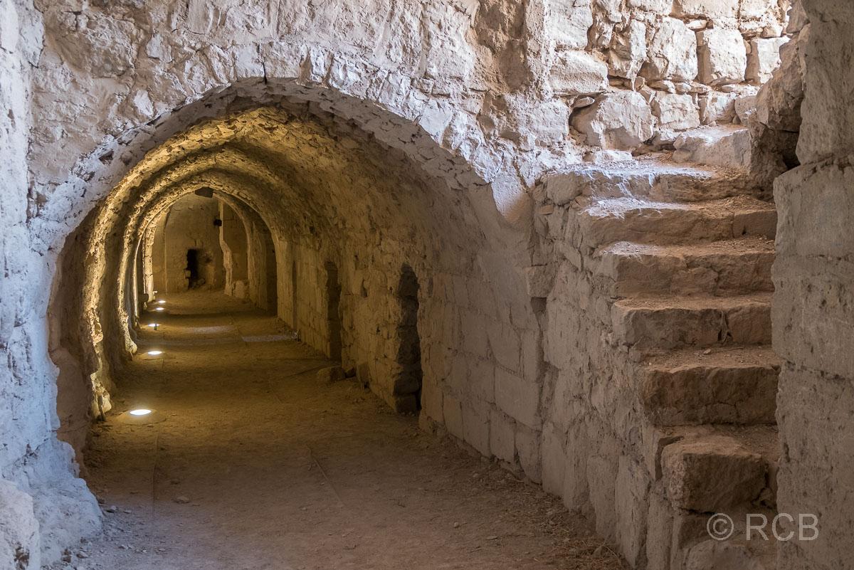 Kerak, gemauerter Gang in der Festung