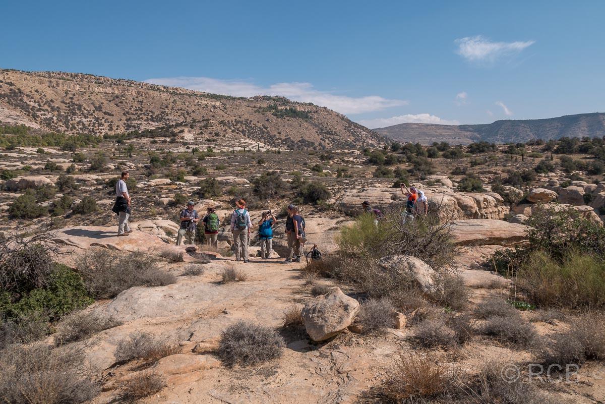 Wandergruppe auf dem Campsite Trail, Dana Naturreservat