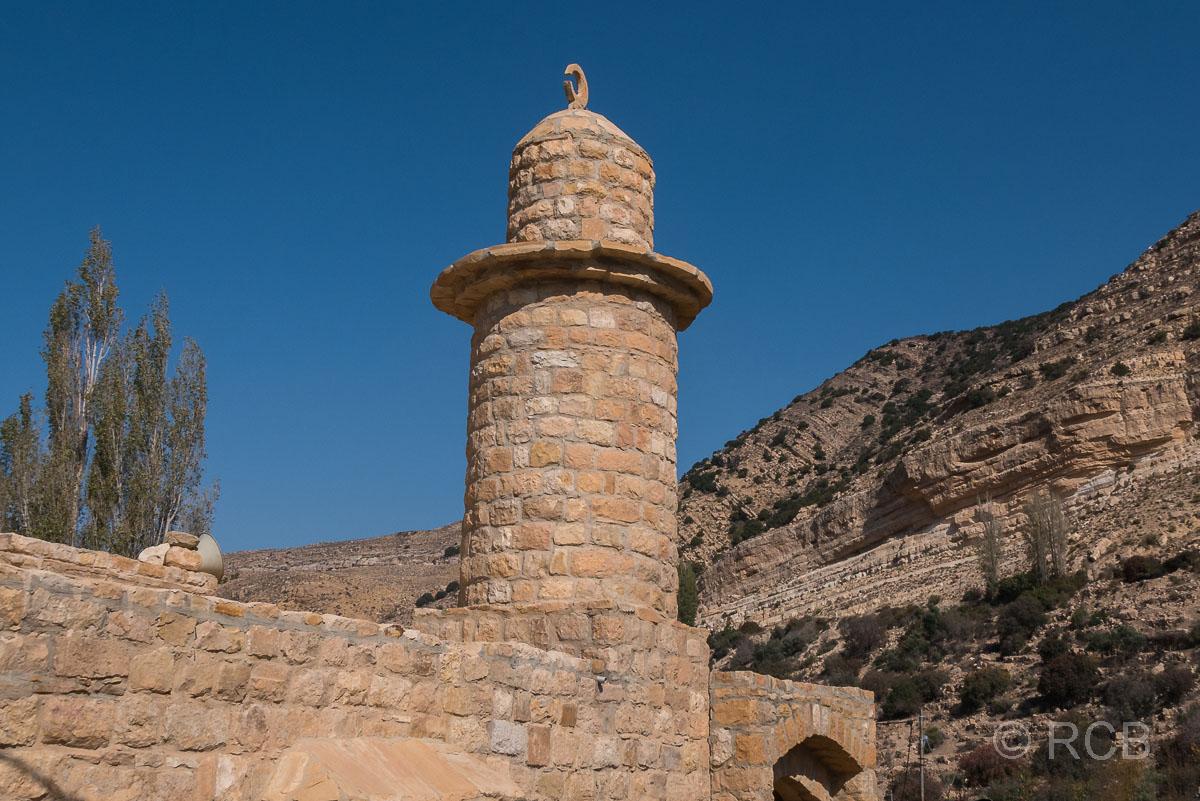 Turm einer Moschee im Dorf Dana