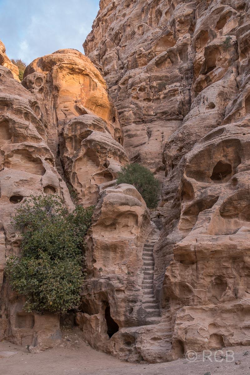Felsentreppe in Klein-Petra