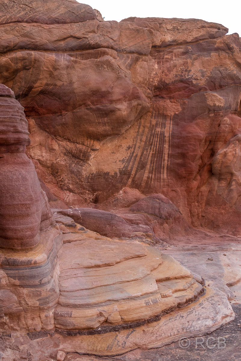 farbige Felsformation in Petra