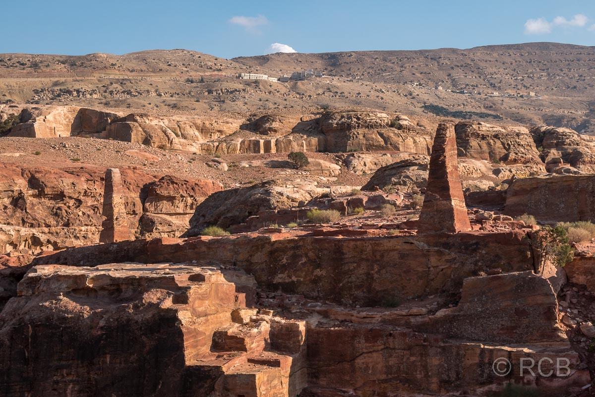 Obelisken am Weg zum Hohen Opferplatz