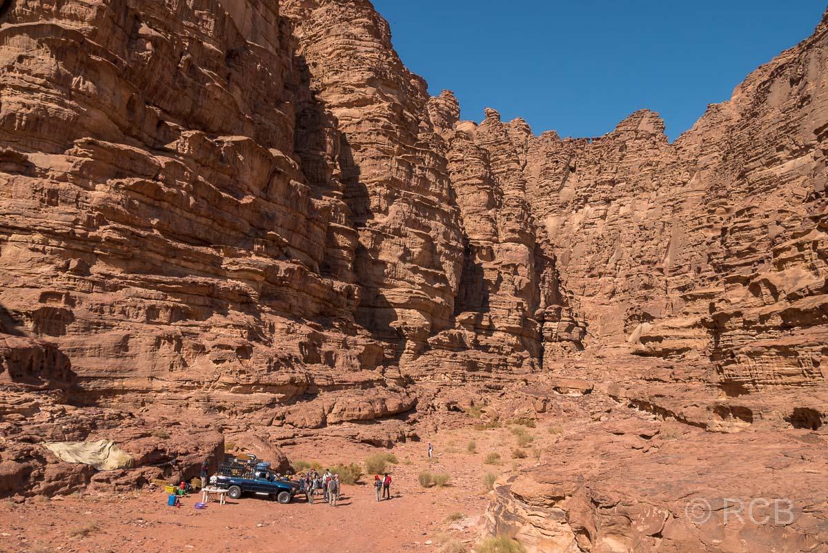 Camp im Wadi Rum