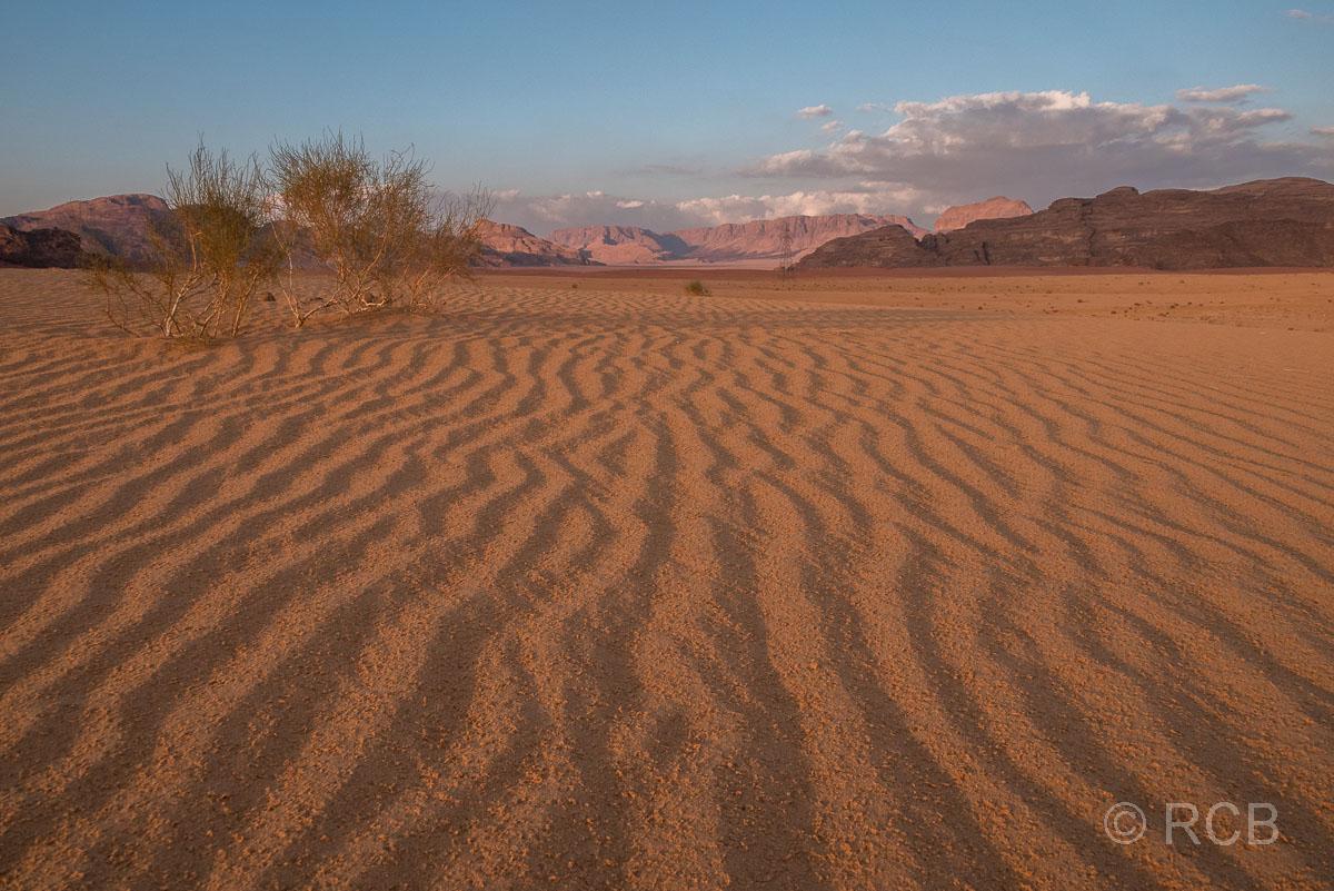geriffelter Sand im Wadi Rum