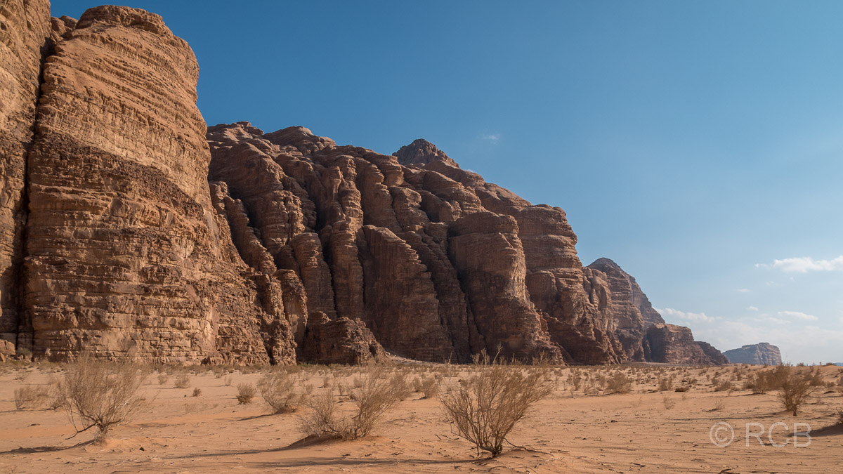 Felslandschaft im Wadi Rum