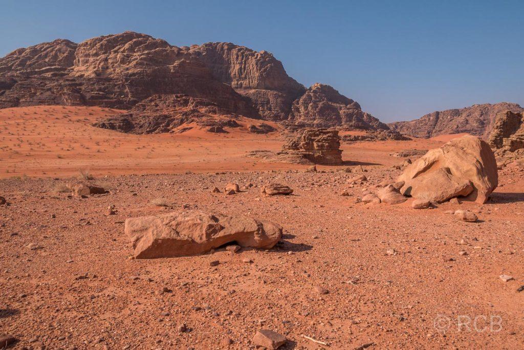 Felswüste im Wadi Rum
