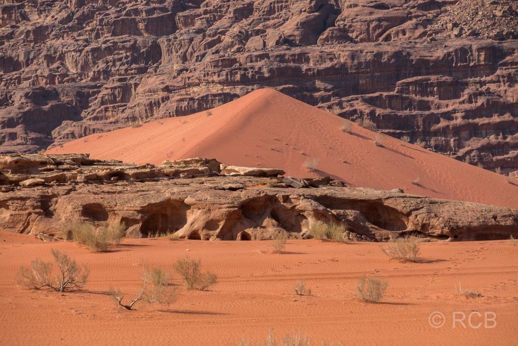 Sanddüne im Wadi Rum