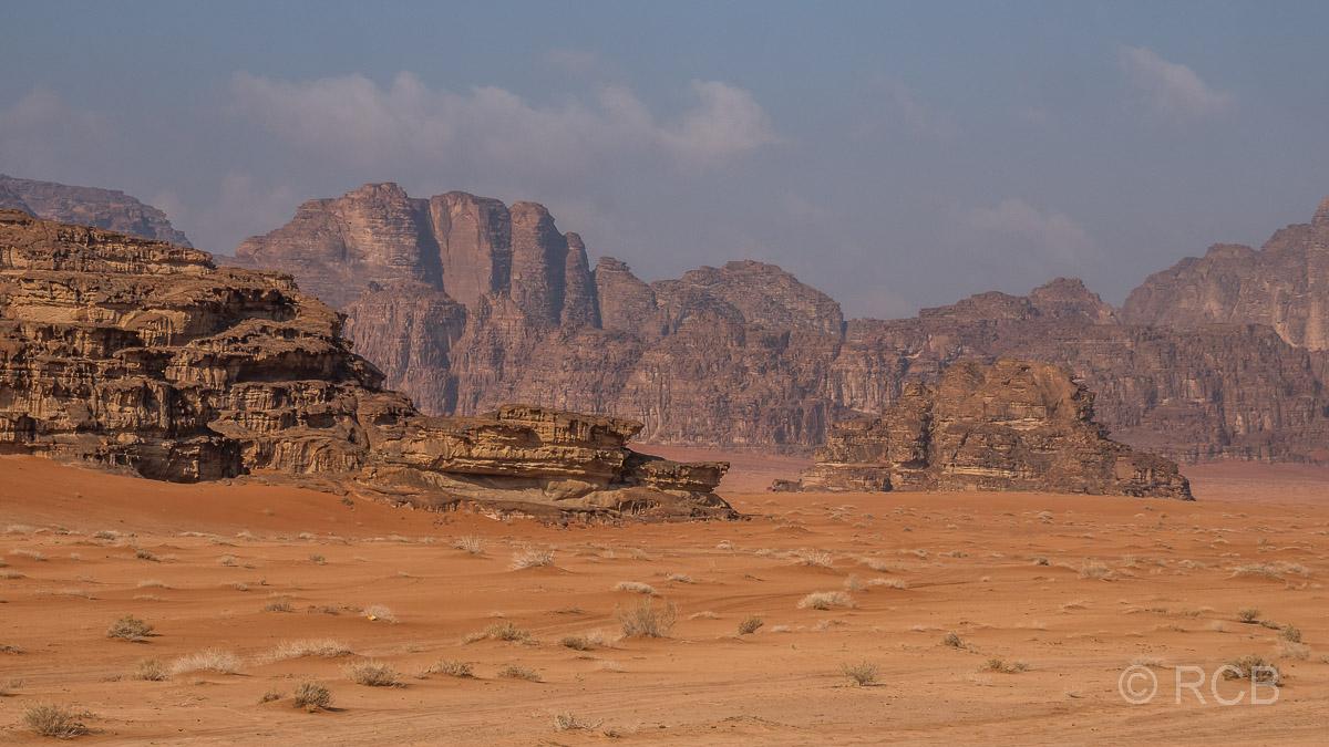 Felsen in der Wüste des Wadi Rum