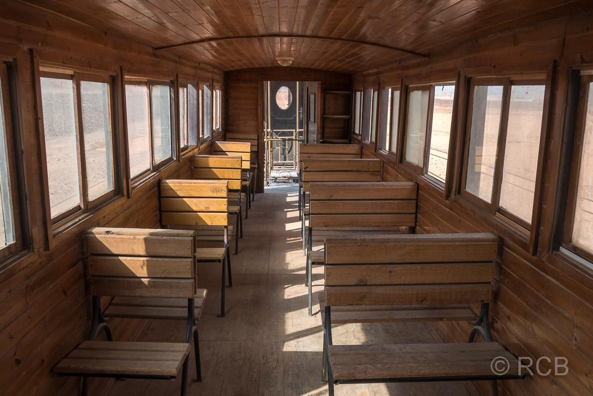 Inneres eines Wagens der Hedschasbahn