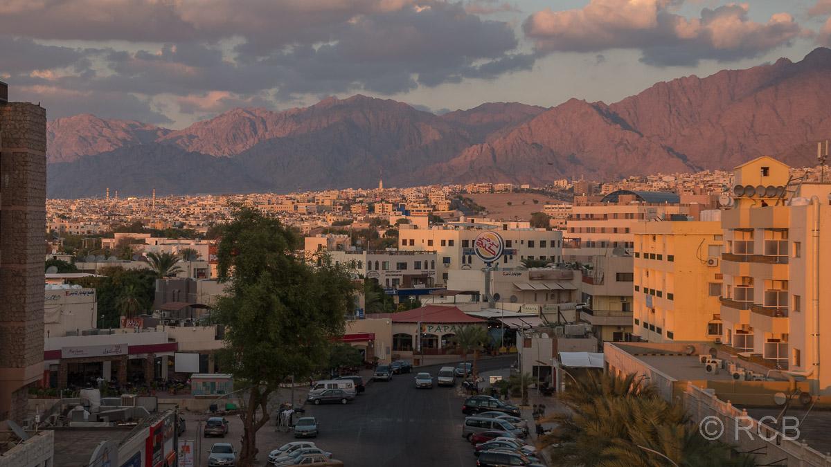 Sonnenuntergang über Aqaba