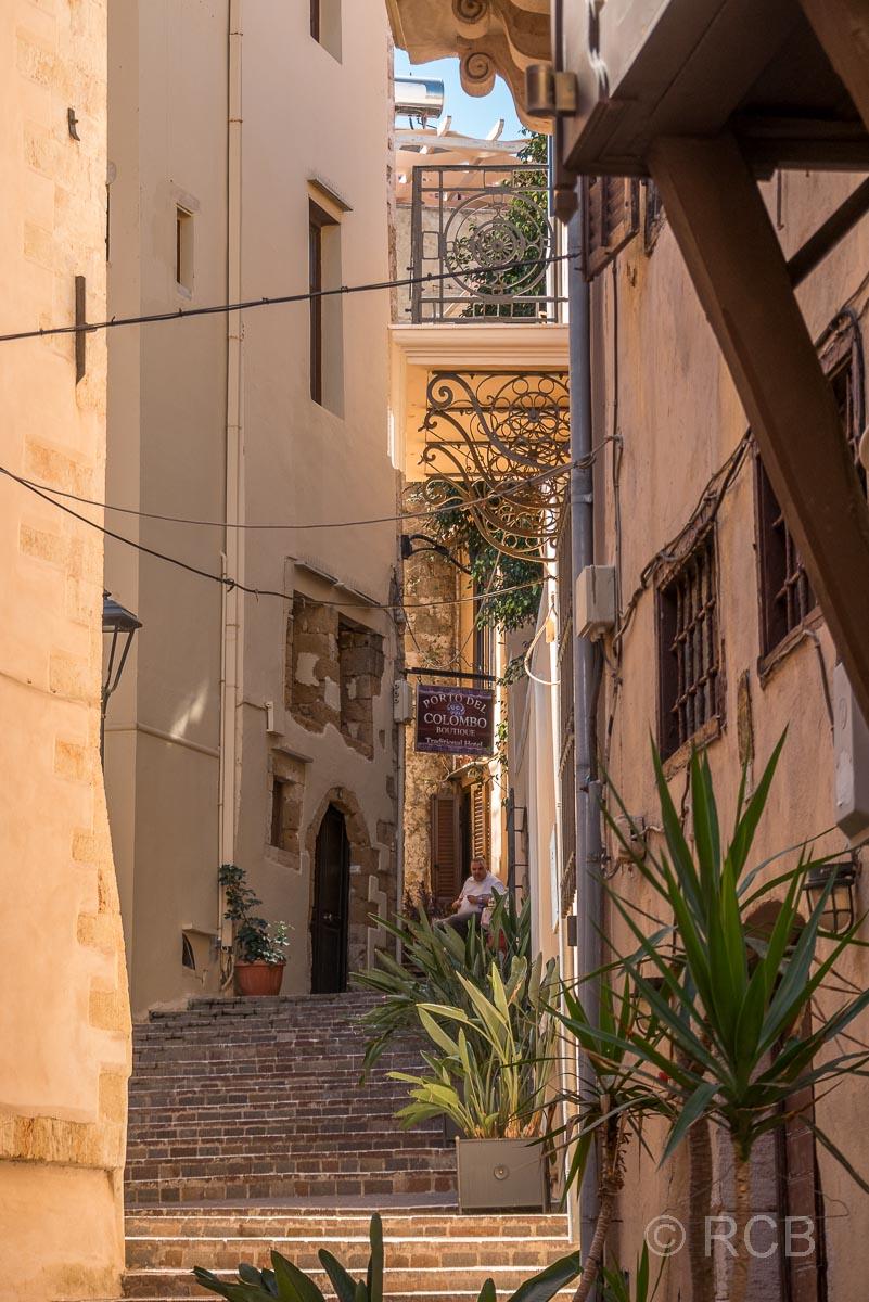 Chania, Treppengasse in der venezianischen Altstadt