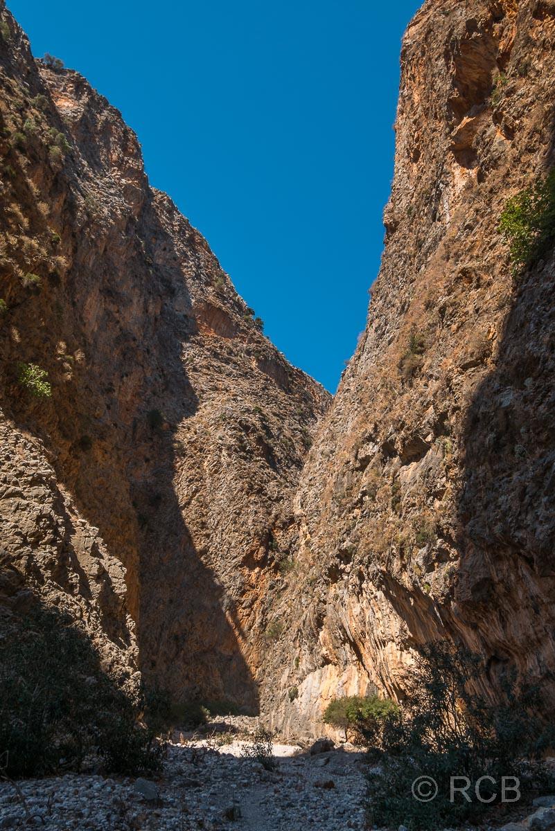 am Ausgang der Aradhena-Schlucht