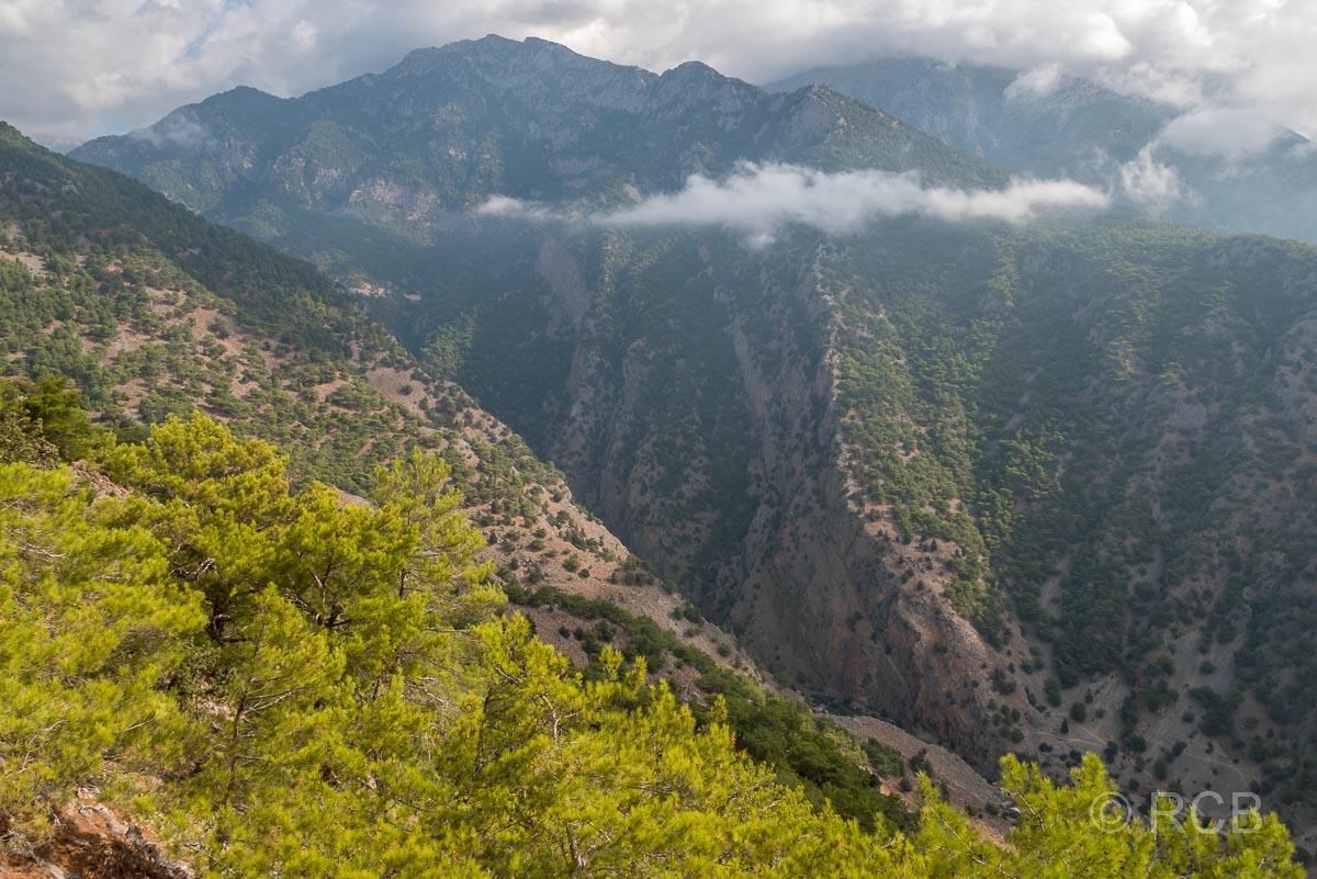 Blick von oben in die Samaria-Schlucht