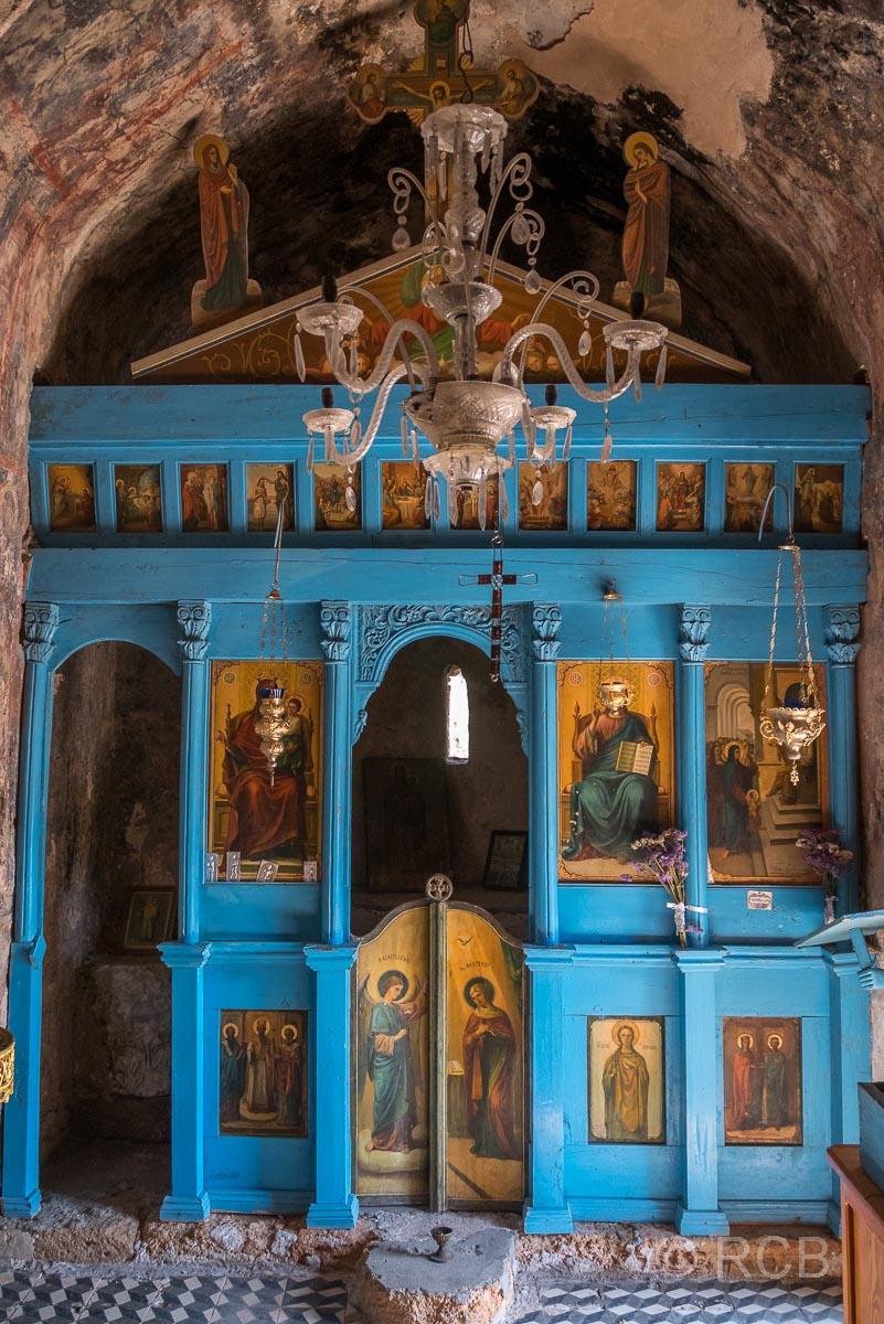 Altarwand in der Kapelle von Lissos