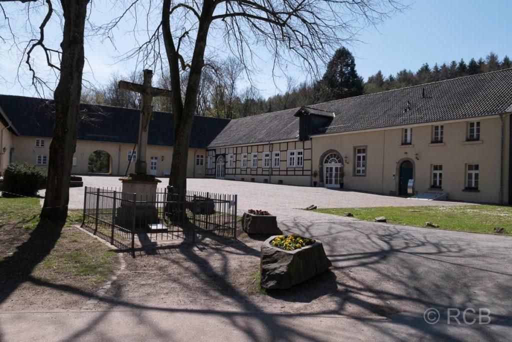 Vorburg von Schloss Hardenberg in Neviges am Neanderlandsteig