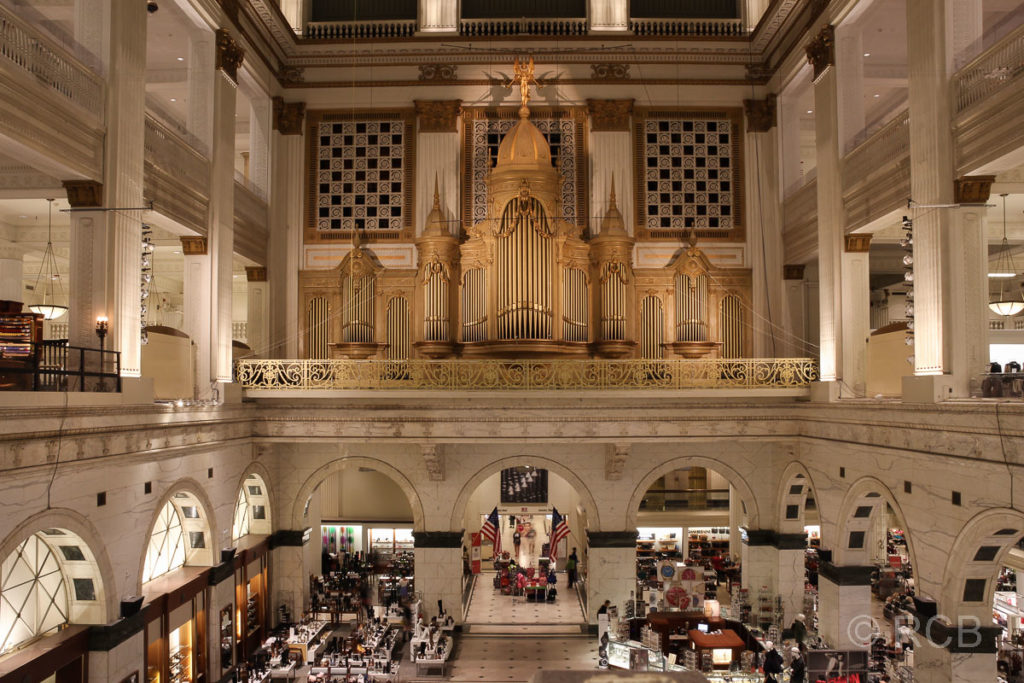 die größte, bespielbare Orgel der Welt im Wanamaker Building