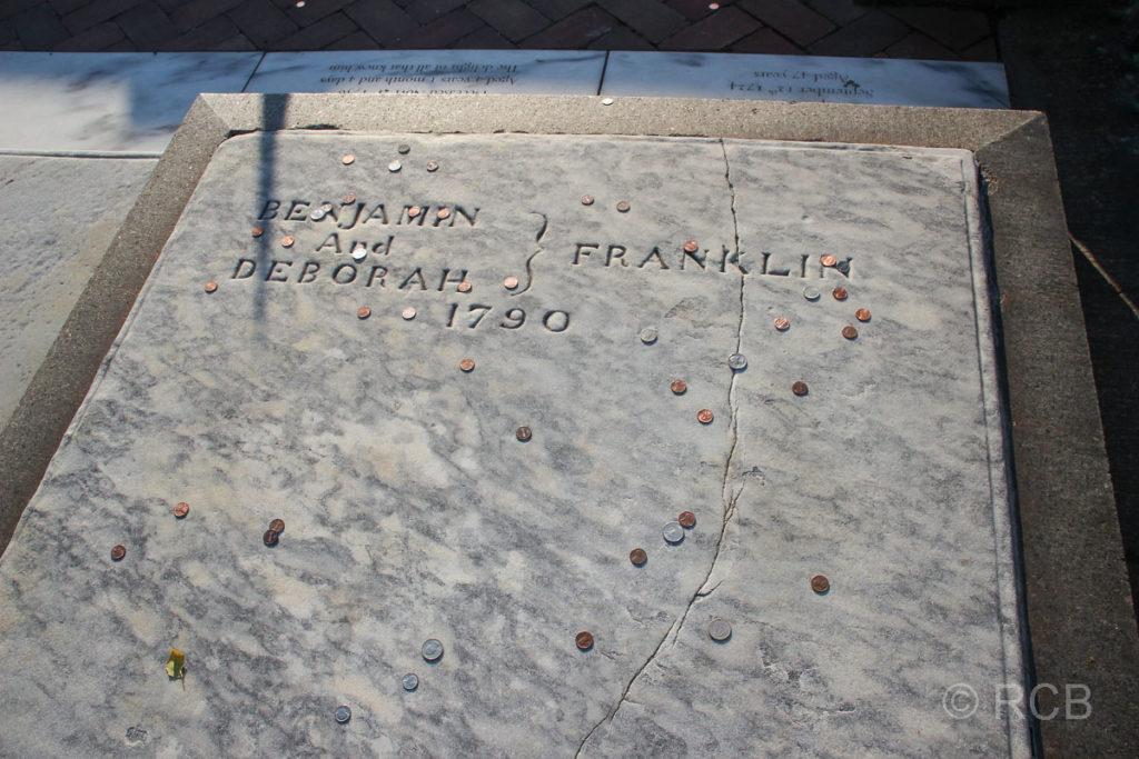 Grab von Benjamin Franklin, Philadelphia