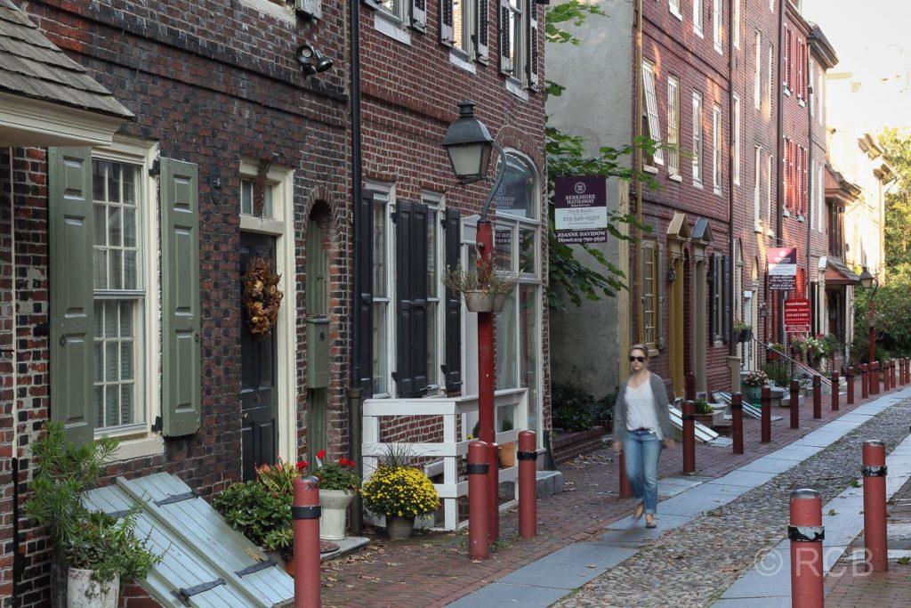 Elfreth's Alley, die älteste, bewohnte Straße der USA