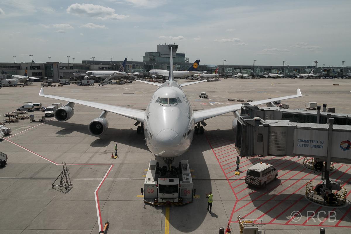 Boeing 747-800 in Frankfurt auf dem Rollfeld