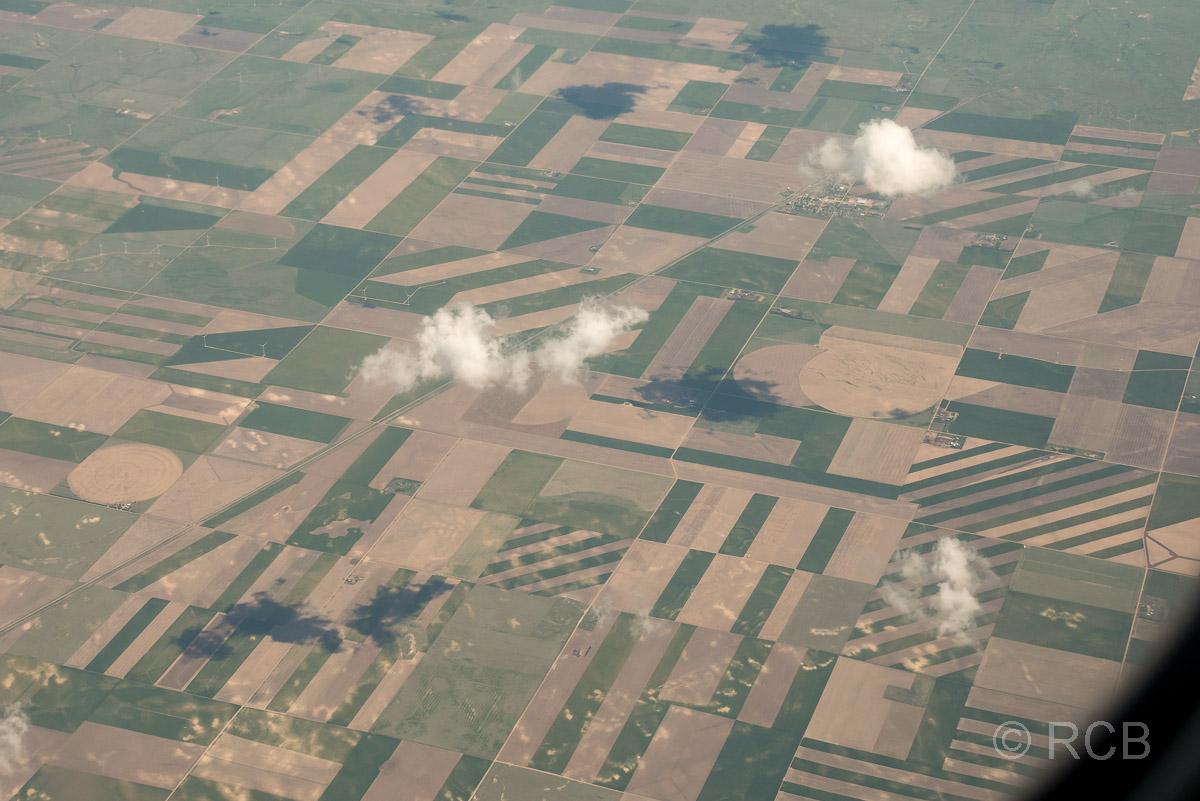 Felder im Mittleren Westen aus der Luft gesehen