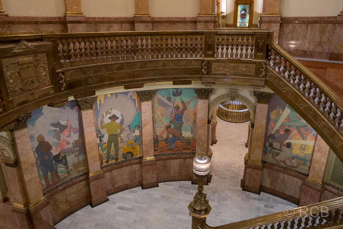 Capitol, Denver, Treppenhaus